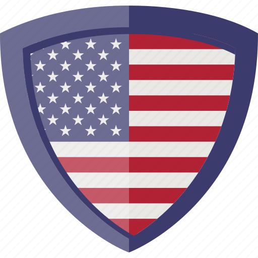 flag, shield, states, usa icon