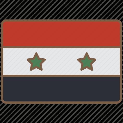 country, flag, international, syria icon