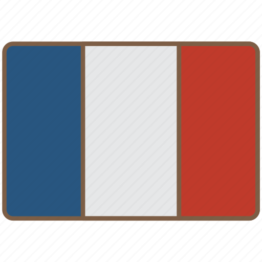 country, flag, france, international icon