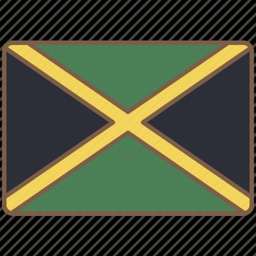 country, flag, international, jamaica icon