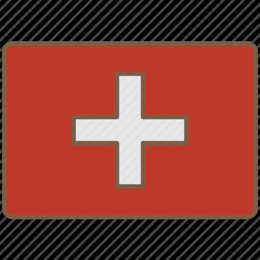 country, flag, international, switzerland icon