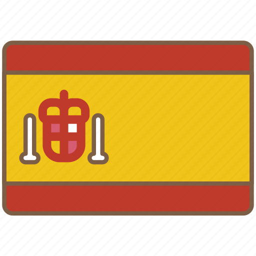 country, flag, international, spain icon