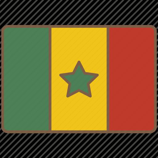 country, flag, international, senegal icon