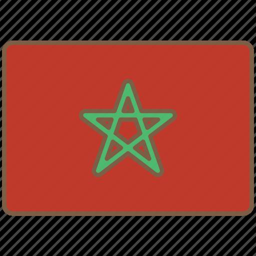 country, flag, international, morocco icon