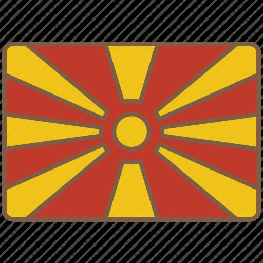 country, flag, international, macedonia icon