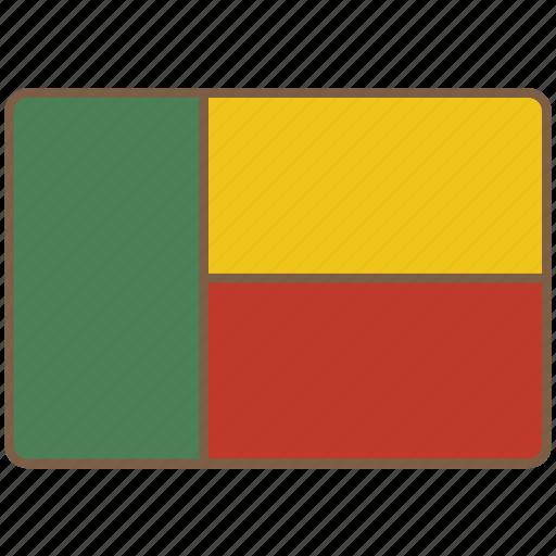 benin, country, flag, international icon