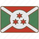 burundi, country, flag, international icon