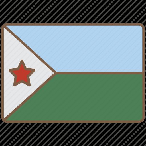 country, djibouti, flag, international icon