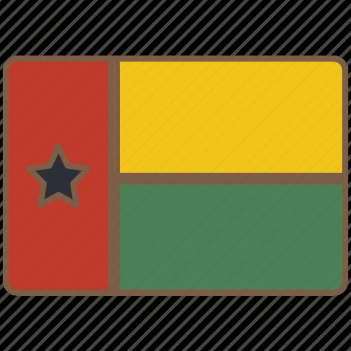 bissau, country, flag, guinea, international icon