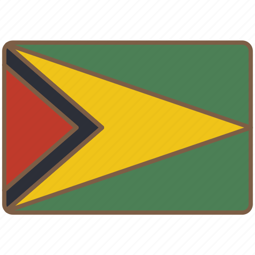country, flag, guyana, international icon