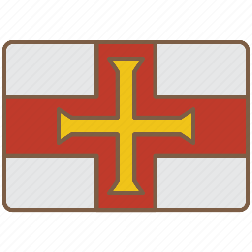 country, flag, guernsey, international icon