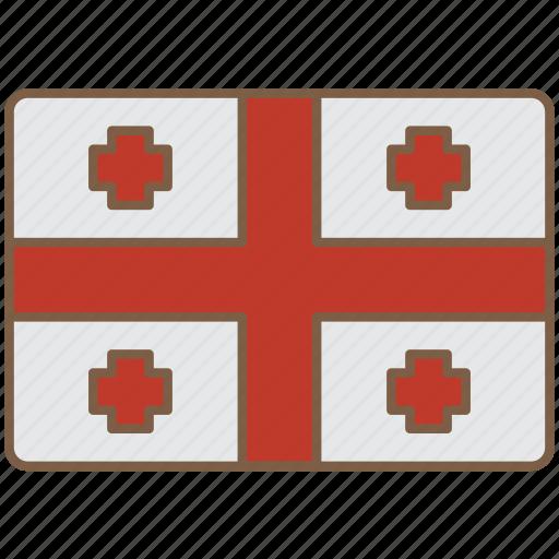 country, flag, georgia, international icon