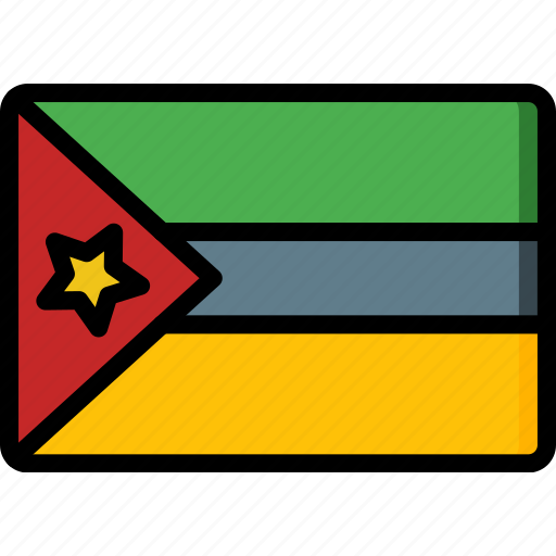 country, flag, international, mozambique icon