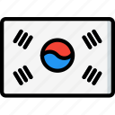 country, flag, international, korea, south icon