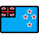 country, flag, international, new, zealand icon