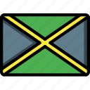 country, flag, international, jamaica icon