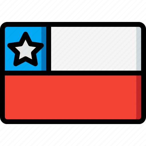 chile, country, flag, international icon