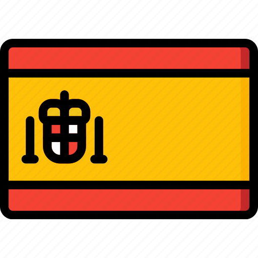 Country, flag, international, spain icon - Download on Iconfinder