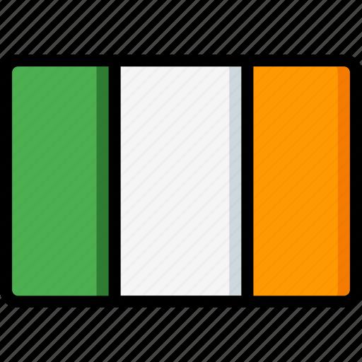 country, flag, international, ireland icon