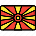 country, flag, international, macedonia icon