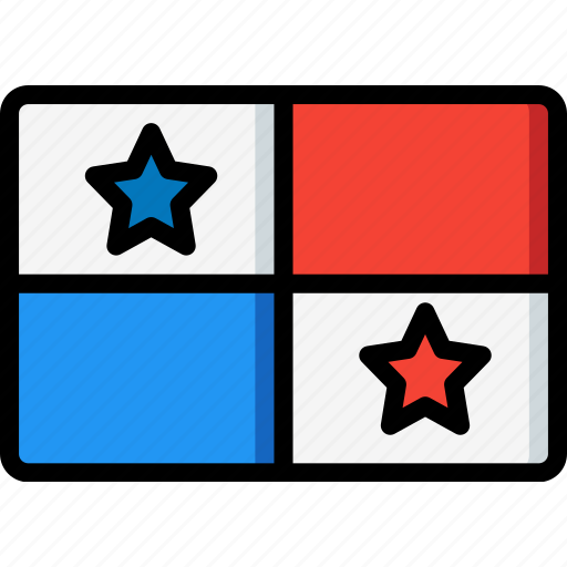 country, flag, international, panama icon