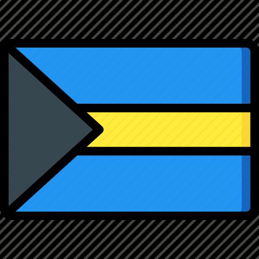 bahamas, country, flag, international icon