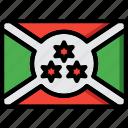 burundi, country, flag, international icon