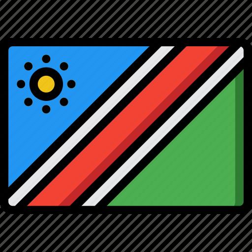 country, flag, international, namibia icon