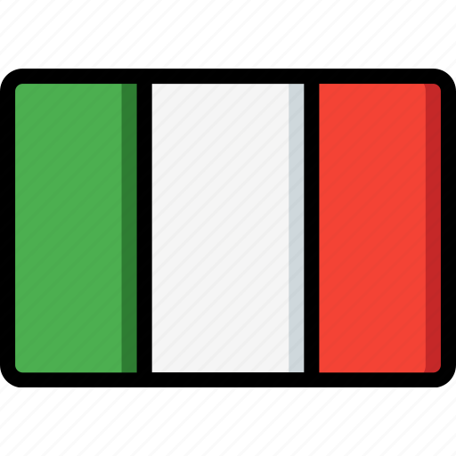 country, flag, international, italy icon