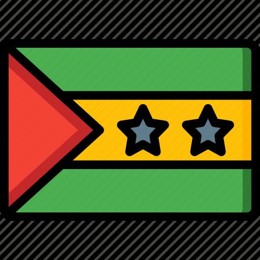 country, flag, international, sao, tome icon
