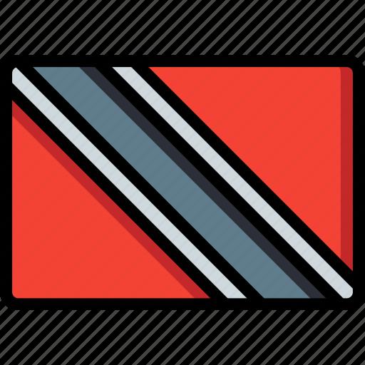 country, flag, international, trinidad icon