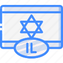 country, flag, international, israel icon