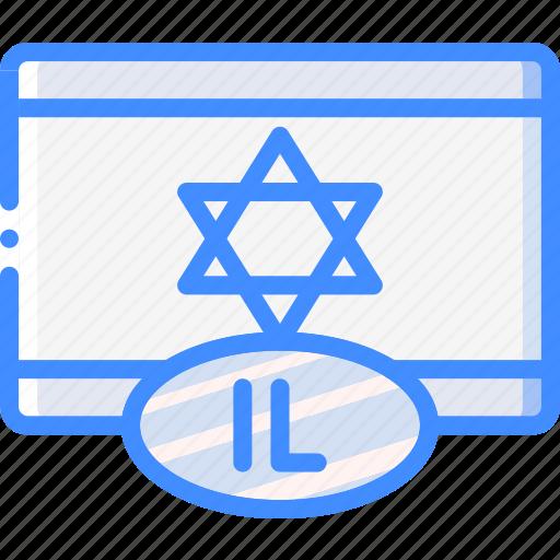country, flag, international, israel icon