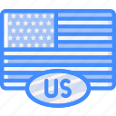 country, flag, international, usa icon