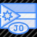 country, flag, international, jordan icon