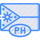 country, flag, international, philippines icon