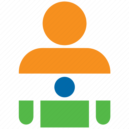 country, flag, flags, india, indian, man, shirt icon