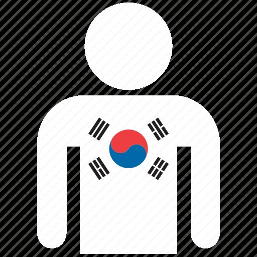 country, flag, flags, korea, korean, shirt, south korea icon