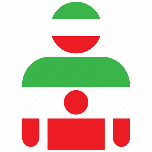 country, flag, flags, iran, iranian, man, shirt icon
