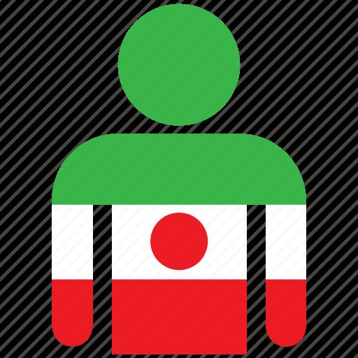 avatar, country, flag, flags, iran, iranian, shirt icon