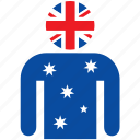 australia, australian, avatar, country, flag, flags, shirt icon