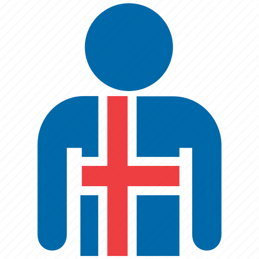 country, flag, flags, iceland, icelandic, jersey, shirt icon