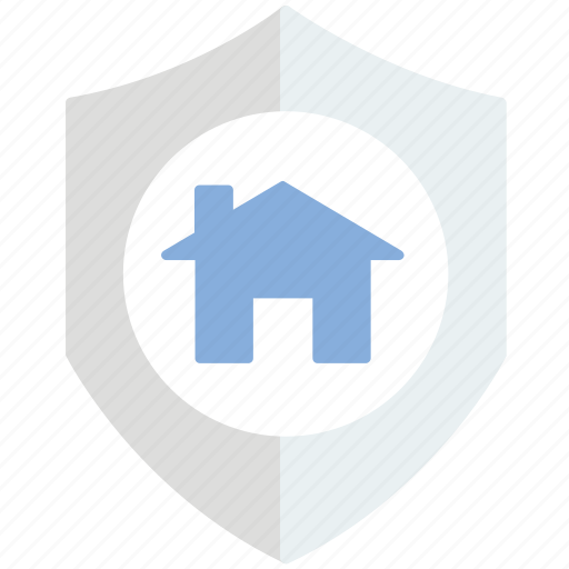 house, protection, security, shield icon