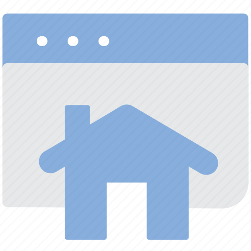 browser, house, online, search icon