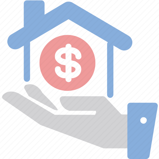 hand, home loan, mortage, pric icon