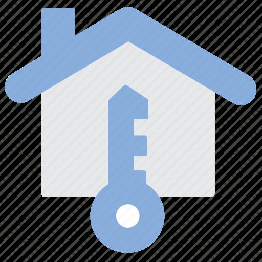 House, key, label icon