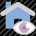 house, search, property, eye, view