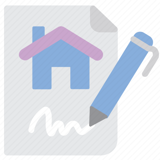 contract, property, rent icon