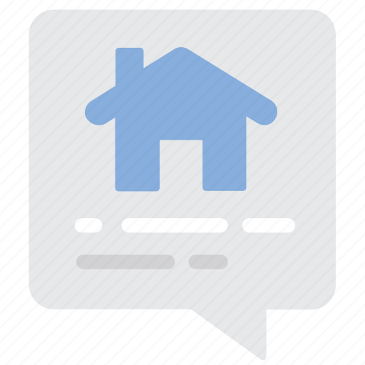 chat, house, message icon