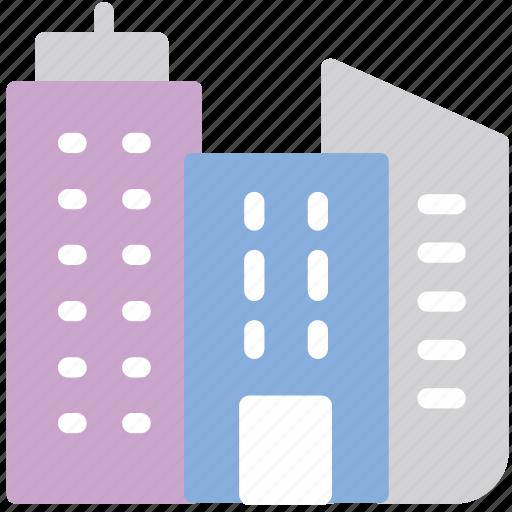 buildings, city, skyscrapers icon